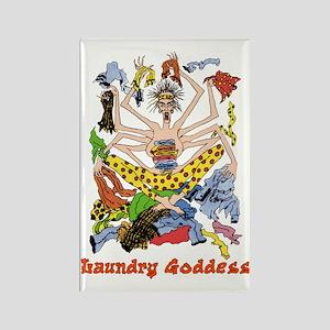 The Laundry Goddess Rectangle Magnet