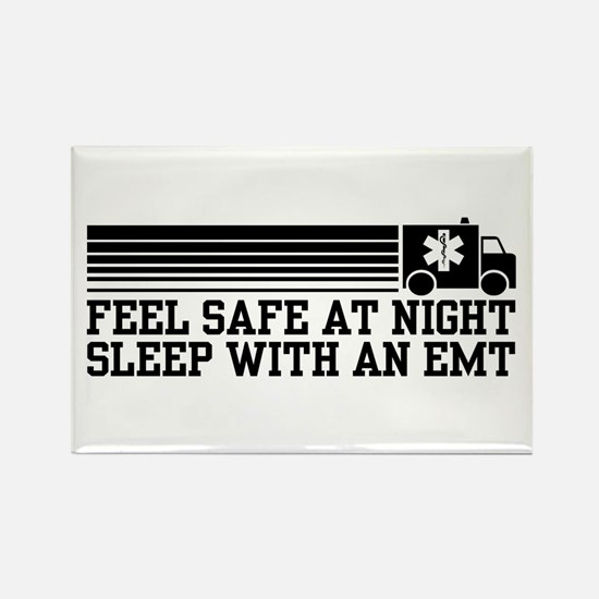 Feel Safe With AN EMT Rectangle Magnet