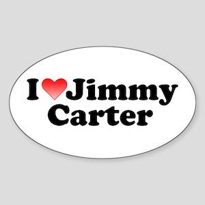 I Love Jimmy Carter Oval Sticker