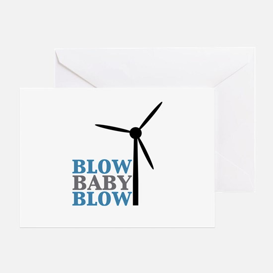 Blow Baby Blow (Wind Energy) Greeting Card