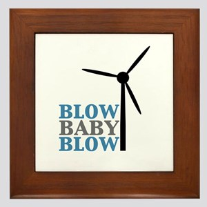 Blow Baby Blow (Wind Energy) Framed Tile