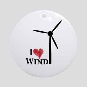 I love wind Ornament (Round)