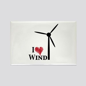 I love wind Rectangle Magnet