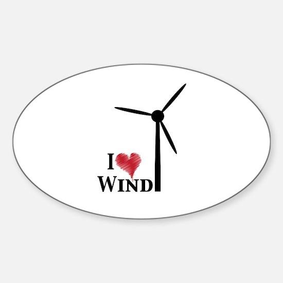 I love wind Sticker (Oval)