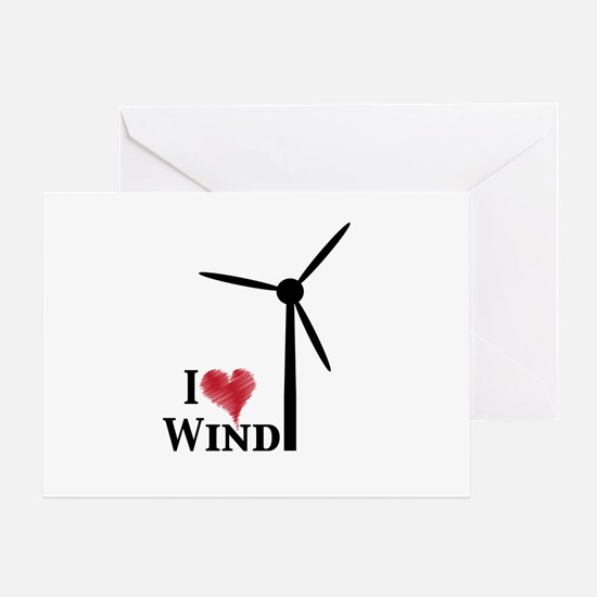 I love wind Greeting Card