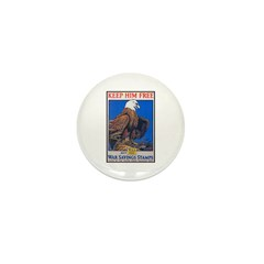 Keep Him Free Eagle Mini Button (10 pack)