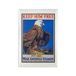 Keep Him Free Eagle Rectangle Magnet