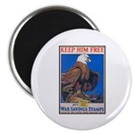 Keep Him Free Eagle Magnet