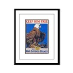Keep Him Free Eagle Framed Panel Print