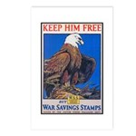 Keep Him Free Eagle Postcards (Package of 8)