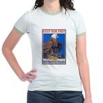 Keep Him Free Eagle (Front) Jr. Ringer T-Shirt