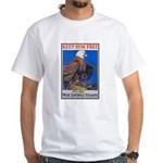 Keep Him Free Eagle (Front) White T-Shirt
