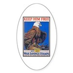 Keep Him Free Eagle Oval Sticker