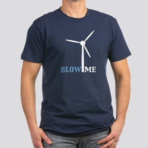 Blow Me (Wind Turbine) Men's Fitted T-Shirt (dark)