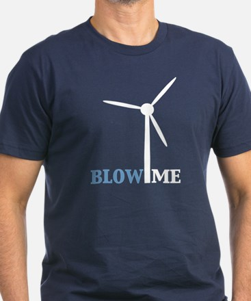 Blow Me (Wind Turbine) Men's Fitted T-Shirt (dark)