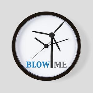 Blow Me (Wind Turbine) Wall Clock