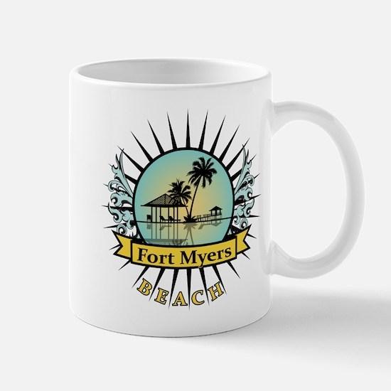 Fort Myers Tropical Scene Mug