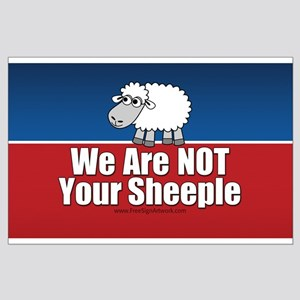 We Are NOT Sheeple Large Poster
