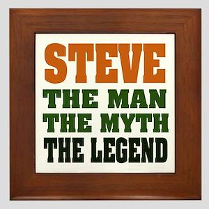 STEVE - The Legend Framed Tile