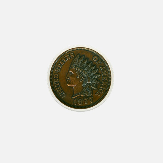 The Indian Head Penny Mini Button