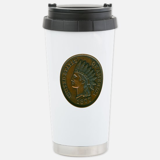 The Indian Head Penny Stainless Steel Travel Mug