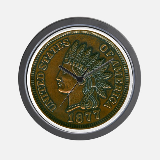 The Indian Head Penny Wall Clock