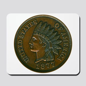 The Indian Head Penny Mousepad