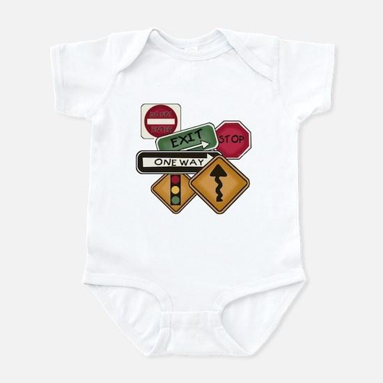 Road Signs Infant Bodysuit