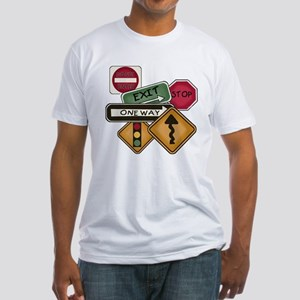 Road Signs Fitted T-Shirt