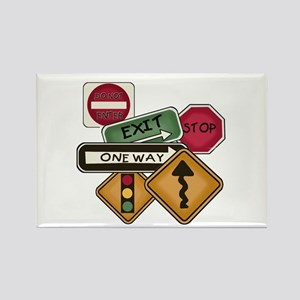 Road Signs Rectangle Magnet