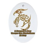 Dragon a Day Ornament (Oval)