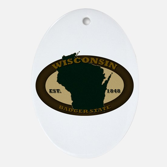 Wisconin Est. 1848 Ornament (Oval)