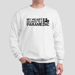 My Heart Belongs To A Paramedic Sweatshirt