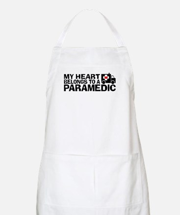 My Heart Belongs To A Paramedic Apron