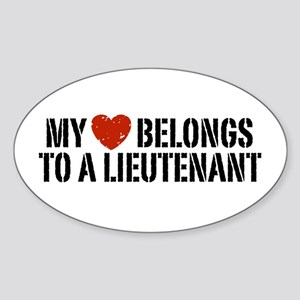 My Heart Lieutenant Sticker (Oval)