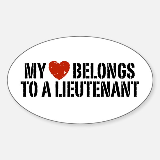 My Heart Lieutenant Sticker (Oval)
