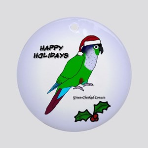 Santa Green-cheeked Conure Ornament