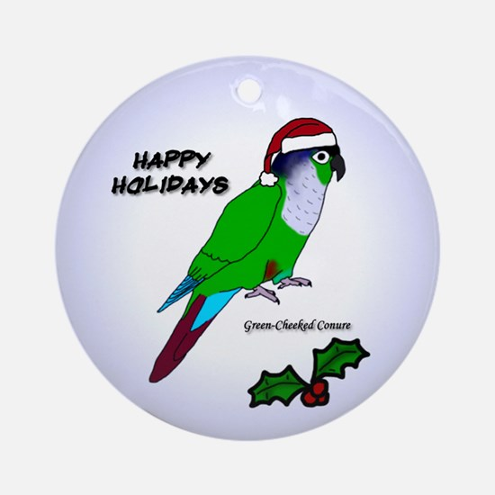 Santa Green-cheeked Conure Ornament