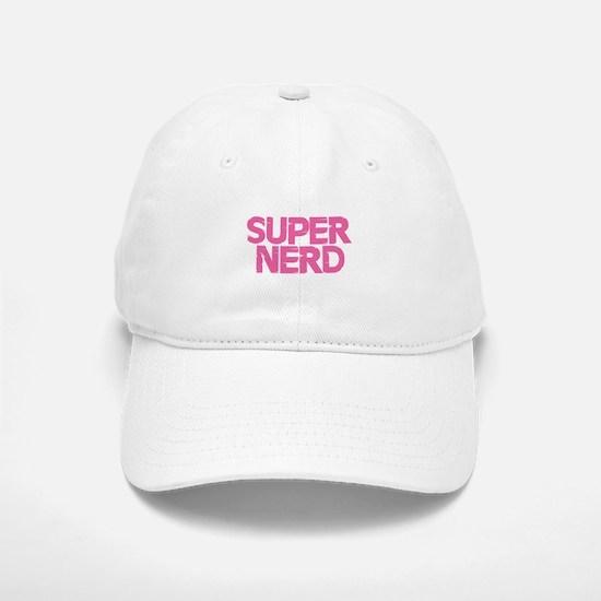 Super Nerd - Pink Baseball Baseball Cap