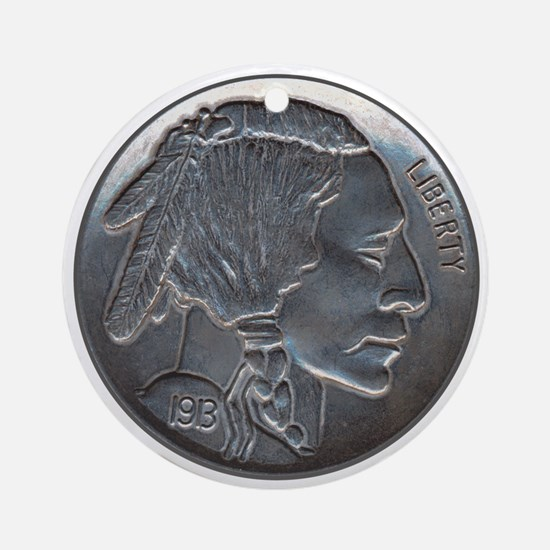 The Indian Head Nickel Ornament (Round)