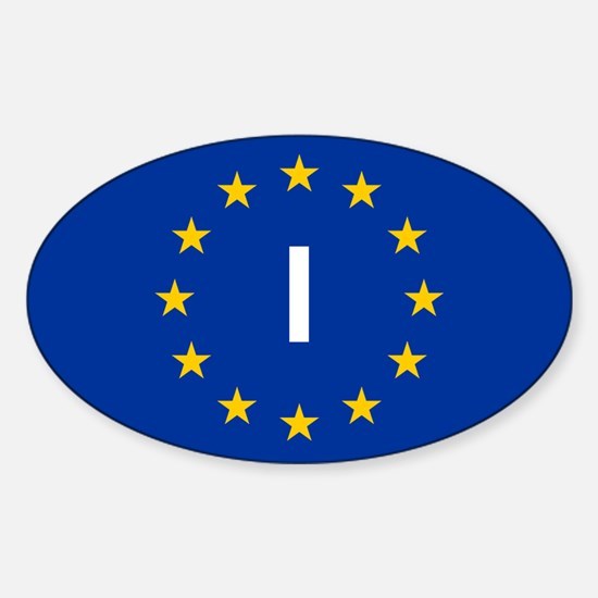 EU Italy Sticker (Oval)