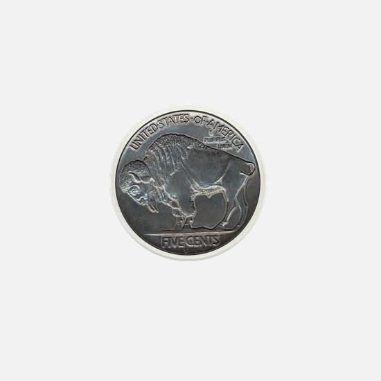 The Buffalo Nickel Mini Button