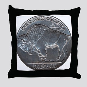 The Buffalo Nickel Throw Pillow