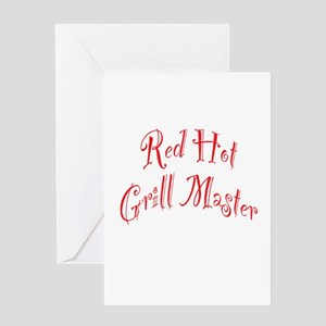Red Hot Grill Master Greeting Card