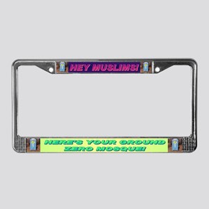 Ground Zero Mosque License Plate Frame