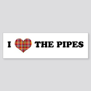 I Heart The Pipes Sticker (Bumper)