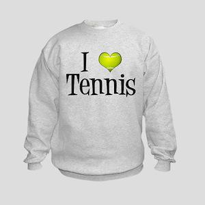 I Heart Tennis Kids Sweatshirt