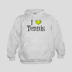 I Heart Tennis Kids Hoodie