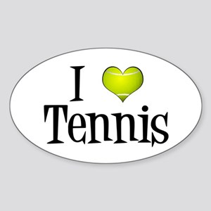 I Heart Tennis Sticker (Oval)