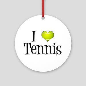I Heart Tennis Ornament (Round)